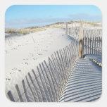 Sombras, dunas de arena, y cercas colcomanias cuadradass