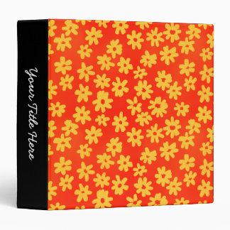 """Sombras florales del estilo del batik (el 1.5in) carpeta 1 1/2"""""""