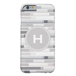 Sombras frescas del monograma gris del funda barely there iPhone 6