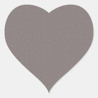 Sombras gris oscuro llanas pegatina en forma de corazón