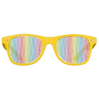 Sombras lesbianas gay del arco iris del orgullo de lentes de fiesta