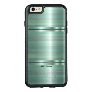 Sombras modernas de las rayas del verde funda otterbox para iPhone 6/6s plus