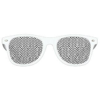 Sombras negras y blancas de la ilusión óptica del lentes de fiesta