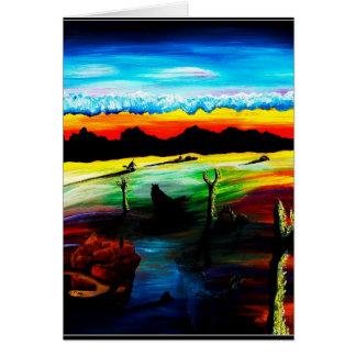 Sombras oscuras del desierto tarjeta de felicitación