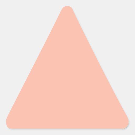 Sombras poner crema llanas: Añada su imagen del Pegatina Triangular