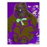 Sombras púrpuras tarjeta postal