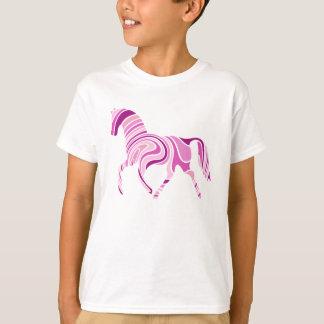 Sombras rayadas del caballo rosado del rosa playera