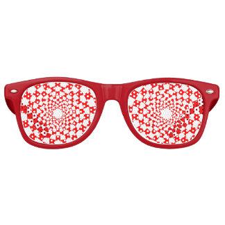Sombras rojas del fiesta del caminante lentes de fiesta