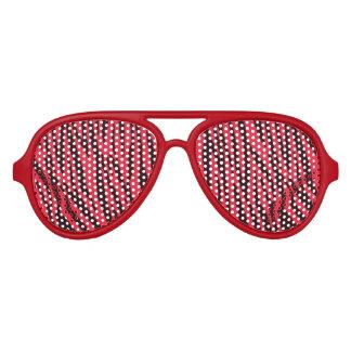 Sombras rojas del fiesta del estampado de animales gafas de fiesta
