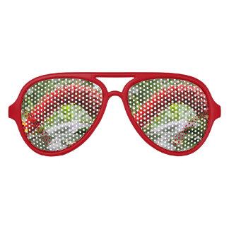 Sombras rojas del fiesta del jengibre de la torre gafas de sol