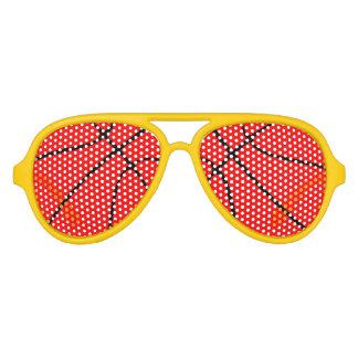 Sombras rojas y amarillas del fiesta del aviador gafas de sol