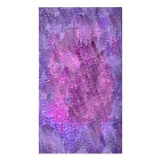 Sombras texturizadas de la púrpura tarjetas de visita