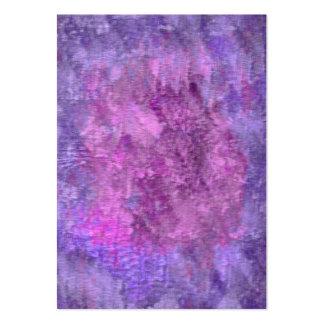 Sombras texturizadas de la púrpura tarjetas de visita grandes