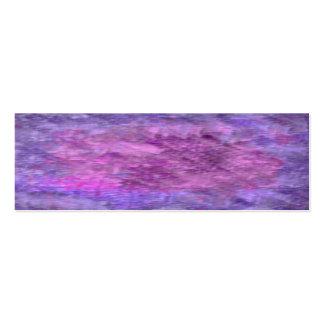 Sombras texturizadas de la púrpura tarjetas de visita mini
