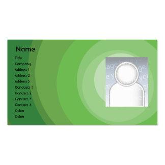 Sombras verdes del círculo - negocio plantilla de tarjeta personal