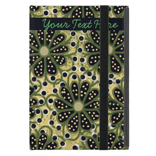 Sombras verdes del mini caso del iPad floral iPad Mini Funda