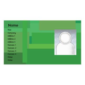 Sombras verdes - negocio tarjeta de negocio