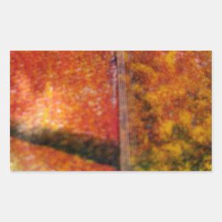 Sombras y líneas de los colores de los ricos pegatina rectangular
