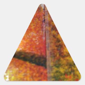 Sombras y líneas de los colores de los ricos pegatina triangular