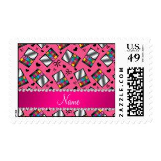 Sombreador de ojos rosado conocido personalizado sellos