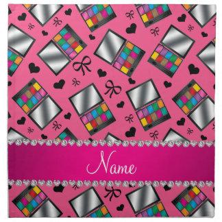 Sombreador de ojos rosado conocido personalizado servilletas