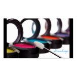 Sombreadores de ojos cosméticos del artista del ma plantillas de tarjetas de visita