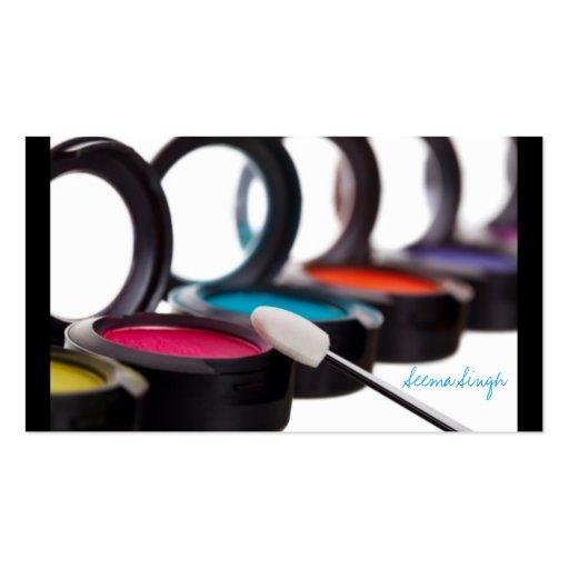 Sombreadores de ojos cosméticos del artista del tarjetas de visita