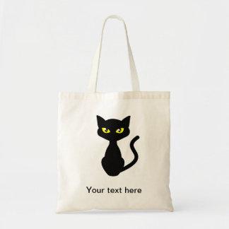 Sombree la bolsa de asas del gato negro