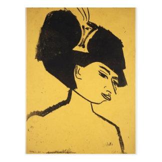 Sombrerero de Ernst Luis Kirchner- con el gorra Tarjetas Postales