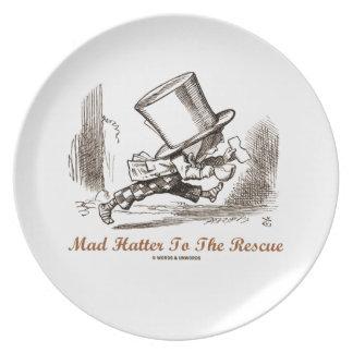 Sombrerero enojado al rescate sombrerero enojado plato de cena