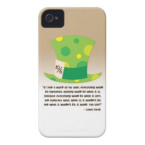 Sombrerero enojado Alicia de Lewis Carroll en el p Case-Mate iPhone 4 Coberturas