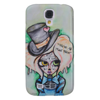 Sombrerero enojado, caso de Dia De Los Muertos Funda Para Galaxy S4