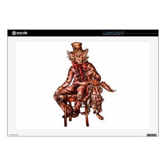 Sombrerero enojado con el dibujo de las liebres de calcomanía para 43,2cm portátil
