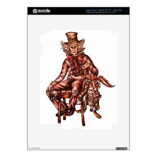 Sombrerero enojado con el dibujo de las liebres de iPad 3 pegatina skin