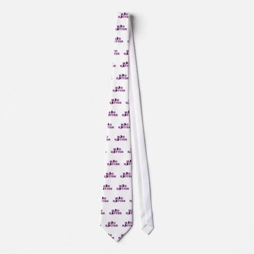 Sombrerero enojado corbata personalizada