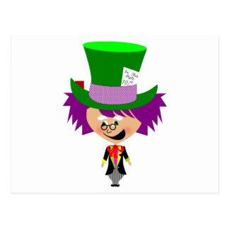 Sombrerero enojado de Toon - las aventuras de Alic Postales