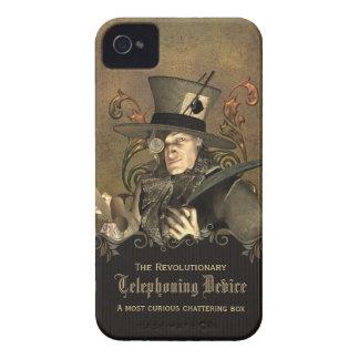 Sombrerero enojado divertido de Steampunk iPhone 4 Carcasas