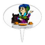 Sombrerero enojado en el té de Alicia en el país Palillos De Tarta