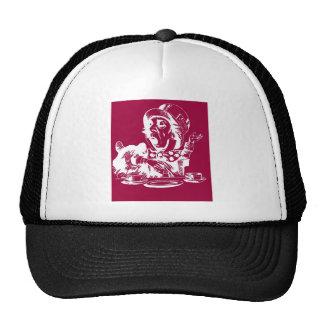 Sombrerero enojado magenta gorras de camionero