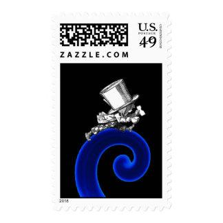 Sombrerero enojado sello