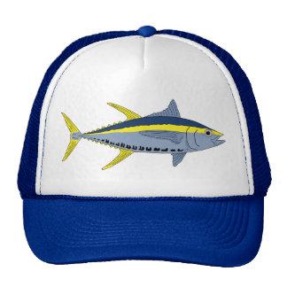 Sombrero amarillo del atún de la aleta gorros bordados