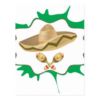 Sombrero and Maracas 2 Postcard