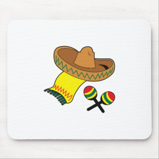 SOMBRERO AND MARACAS MOUSE PADS