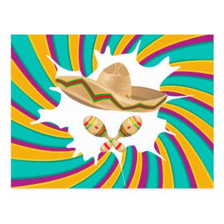 Sombrero and Maracas Postcard