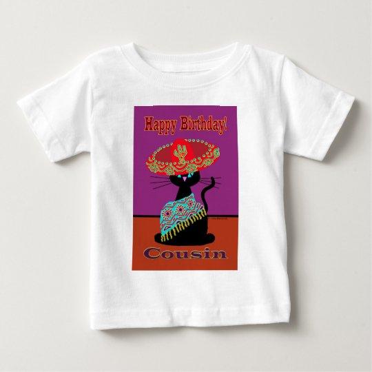Sombrero Cat Cousin Baby T-Shirt