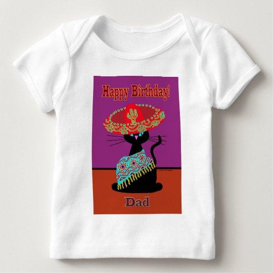 Sombrero Cat Dad Baby T-Shirt