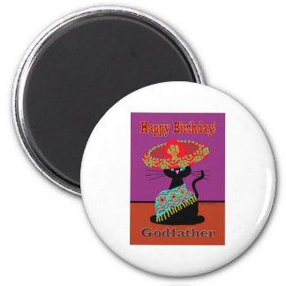 Sombrero Cat Godfather Magnet