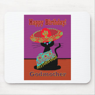 Sombrero Cat Godmother Mouse Pad