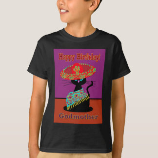 Sombrero Cat Godmother T-Shirt