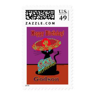 Sombrero Cat Godson Stamps